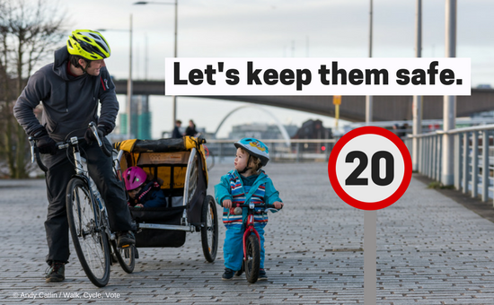 20mph speed limit for safer streets