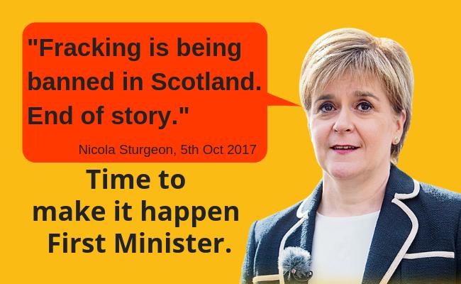 Nicola Sturgeon with pull quote