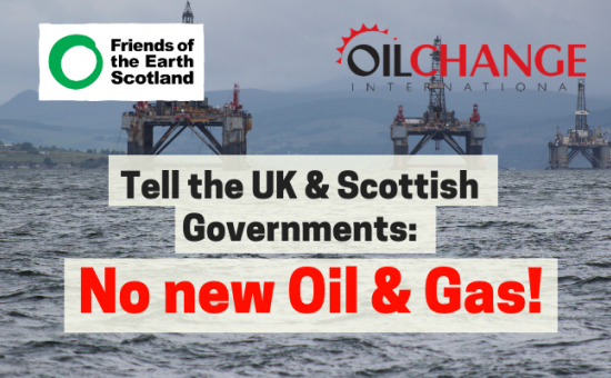 Text of No New Oil & Gas over disused oil platforms