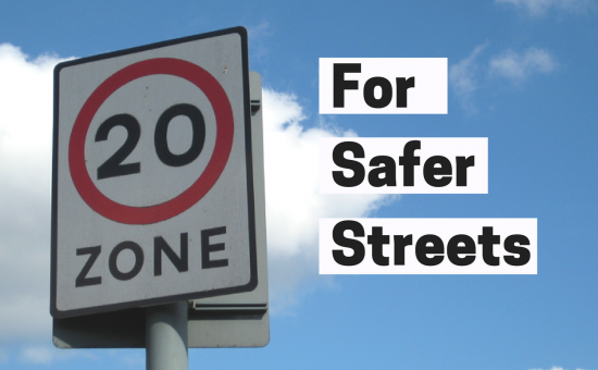 Sign advertising Edinburgh's 20mph zones
