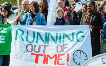 Running out of Time Climate Rally at the Scottish Parliament April 2019