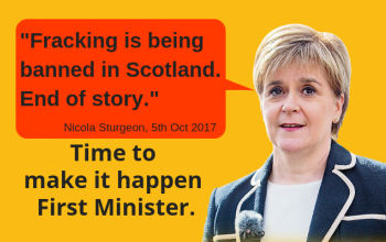 Nicola Sturgeon with pull quote