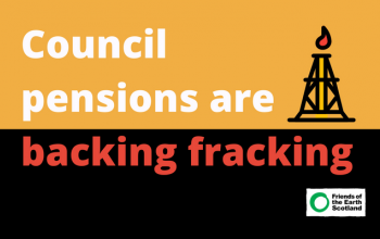 Graphic calling on councils to end investment in fracking
